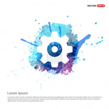Illustration for Gear wheel icon. vector illustration - Royalty Free Image