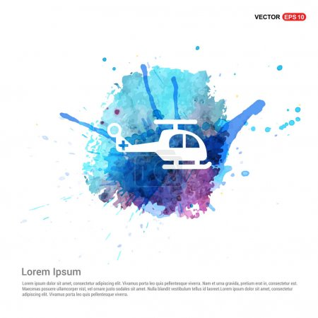 Illustration for Helicopter flat icon, vector illustration - Royalty Free Image