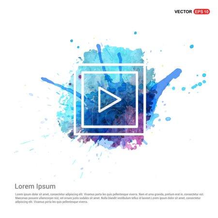 Illustration pour Icône de bouton de lecture vidéo. illustration vectorielle - image libre de droit