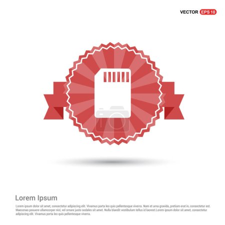 Illustration for Memory card flat icon, vector, illustration - Royalty Free Image
