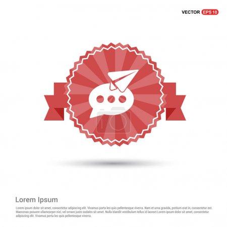 Speech bubble and paper plane icon