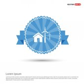 House and wind energy icon vector illustration