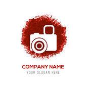 Ikona kamery foto na červené
