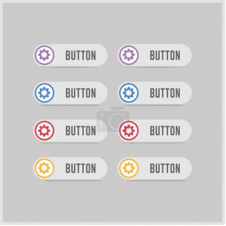 Colorful setting buttons
