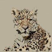 polygonal animal illustration