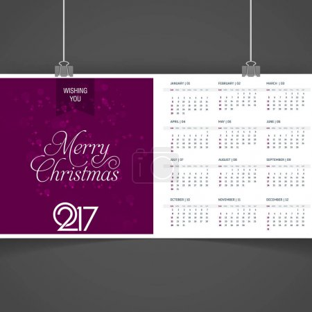2017 year calendar template