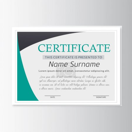 Illustration for Certificate of achievement template, Vector illustration - Royalty Free Image