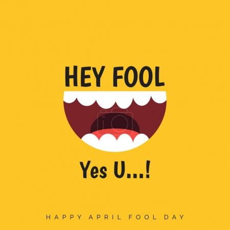 Illustration for Happy April Fools Day greeting card,  Vector illustration - Royalty Free Image
