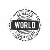 World Tuberculosis Day medical banner vector illustration