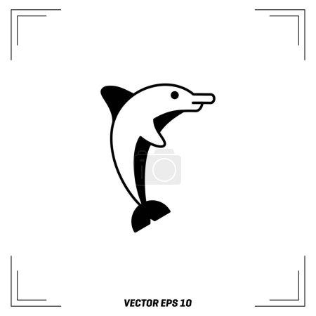 Dolphin flat icon