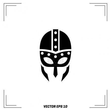 Illustration pour Icône de casque viking, vecteur, illustration - image libre de droit