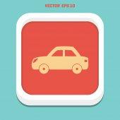 Car flat Icon vector illustration