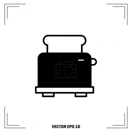 Electric Toaster flat icon