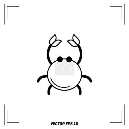 crab flat icon