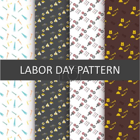 set of Labor Day Patterns