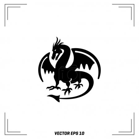 Viking Dragon flat icon