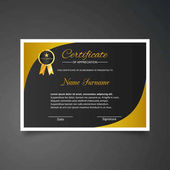 Certificate template with luxury and modern pattern business and education typography vector illustration
