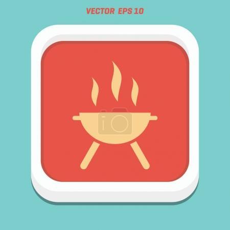 hot pot flat icon