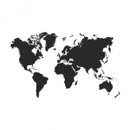 Blank Grey World map