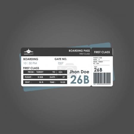 Modern Airline boarding pass tickets