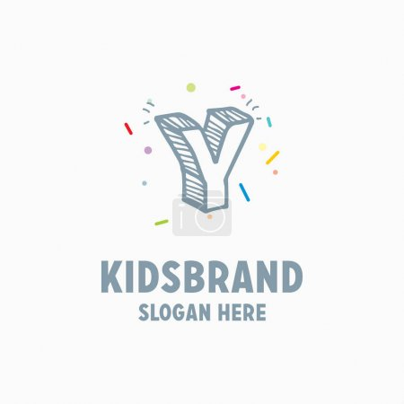 kids logo template with letter Y