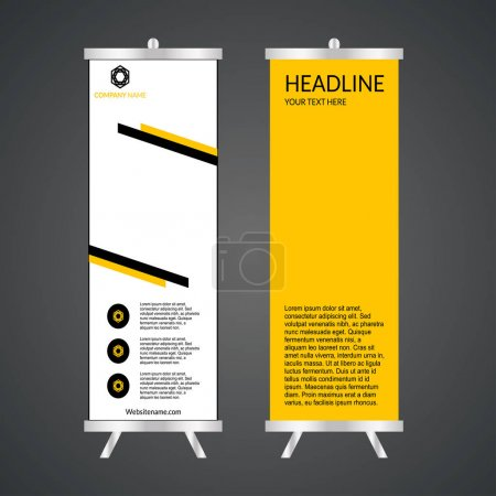 Illustration for Yellow and white modern business roll-up - Royalty Free Image