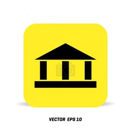 bank icon on yellow