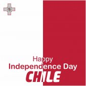 Chile Independence Day greeting card vector illustration