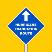 Hurricane Evacuation Route Sign Board