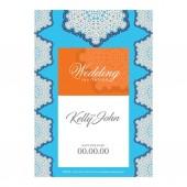 Elegant festive wedding card design