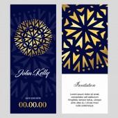 Elegant festive wedding cards design