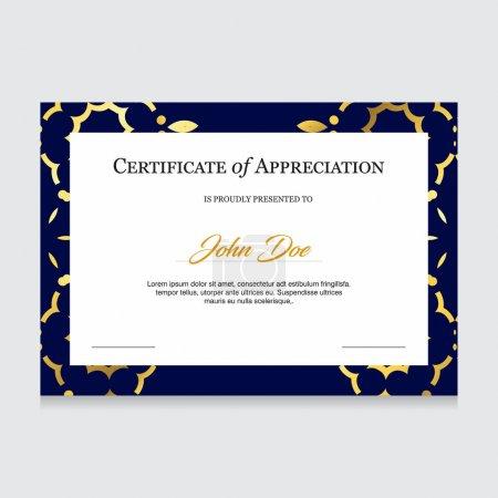 Certificate creative design vector