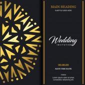 elegant design of wedding card invitation template, vector illustration
