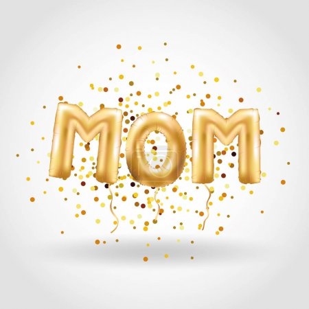 Mother day gold balloons