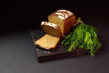 Bread on a dark background