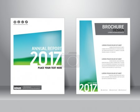 Abstract annual report, vector