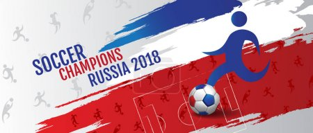 Soccer championship cup background Banner