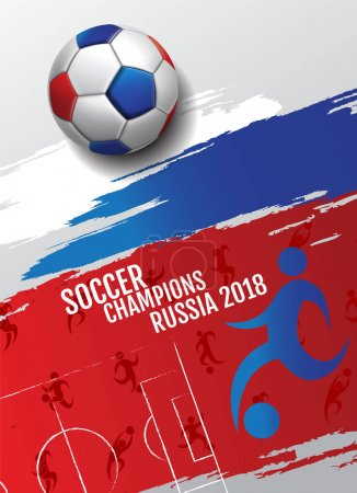Soccer championship cup background football, 2018,  Russia, vect