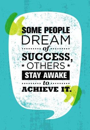 Motivation quote inside speach bubble