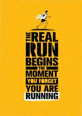 Sport Marathon Motivation Quote.