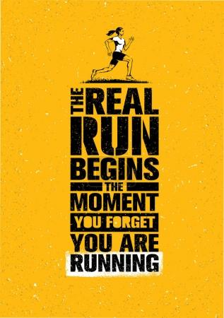 Sport Marathon Motivation Quote.