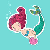 Beautiful little mermaid Siren
