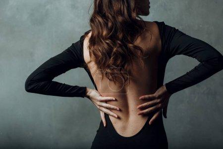 Backache woman back concept