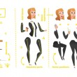 Stylized characters set for animation. Some parts ...