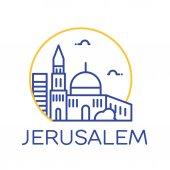 Jerusalem city icon