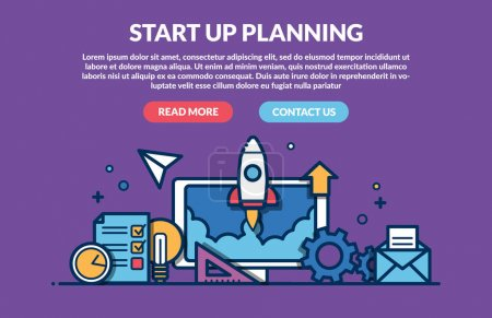 Illustration for Start Up Planning Concept for web page. Vector illustration - Royalty Free Image