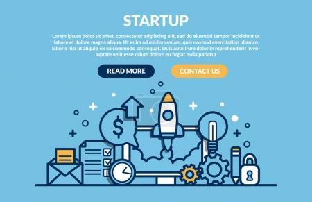 Illustration pour Start Up Concept de page web. Illustration vectorielle - image libre de droit