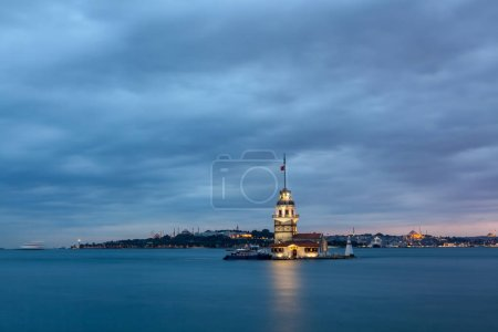 Maidens Tower in  Istanbul city