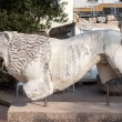 Lion statue at the temple of Apollon; Selchuk Aydi...