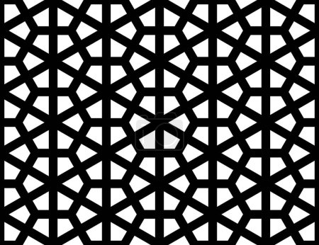 Illustration for Islamic geometric seamless pattern - Royalty Free Image